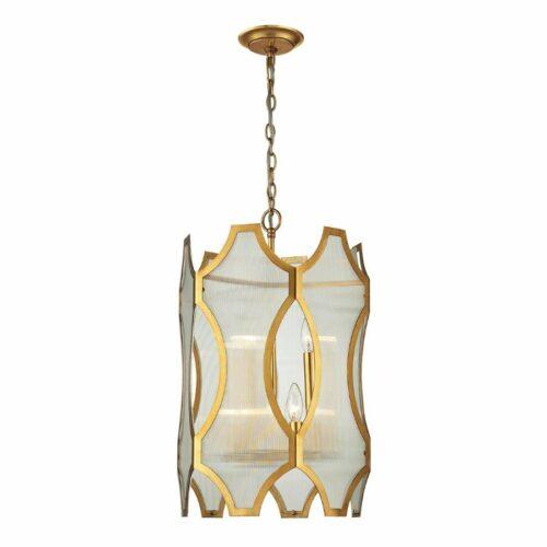 Venus 6 Light Gold Lantern on White Background