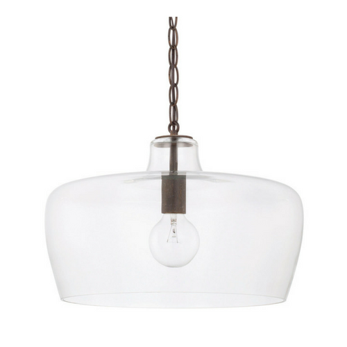 """CLEAR GLASS PENDANT<div class=""""cost"""">WIC 22329611/NG</div>"""