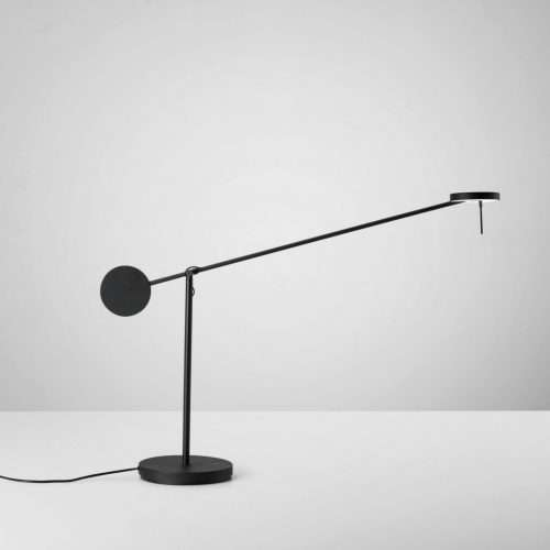 black LED table lamp