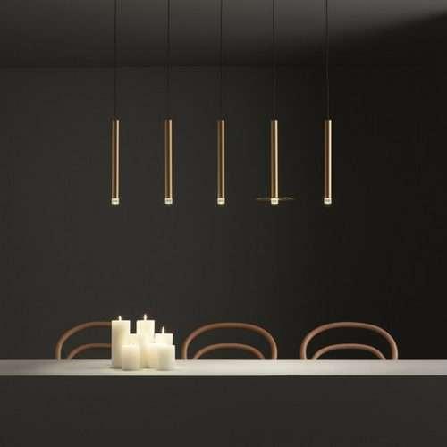 brass LED pendant light