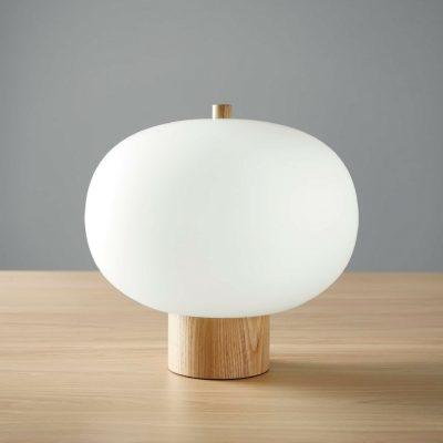 ilargi blown glass table lamp