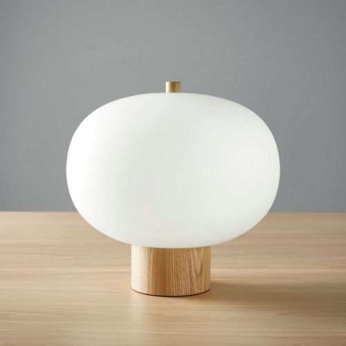 ilargi blown glass table lamp