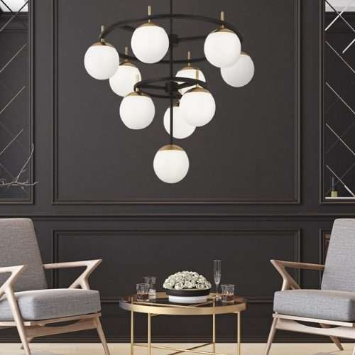 """GLASS TIERED CHANDELIER<div class=""""cost"""">WIB 0158</div>"""