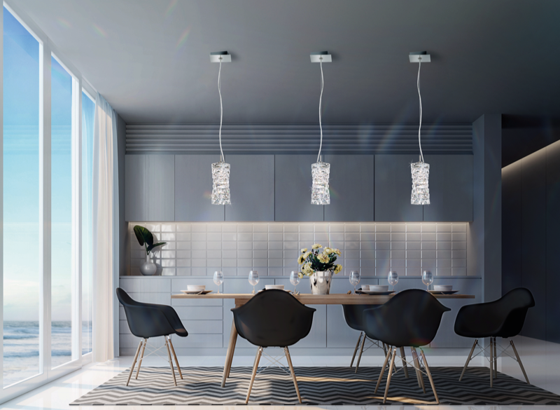 Three One Light Pendants Displayed Over A Table Creating The Perfect Ambiance