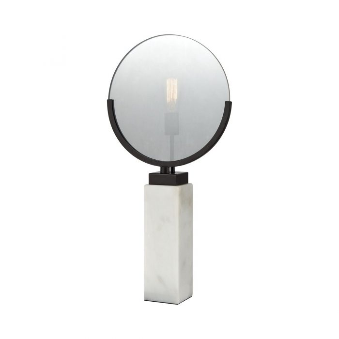 """WHITE MARBLE TABLE LAMP<div class=""""cost"""">WIK 661141/170</div>"""