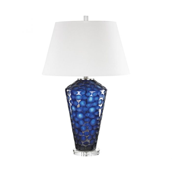 """GLASS TABLE LAMP<div class=""""cost"""">WIK 663062</div>"""