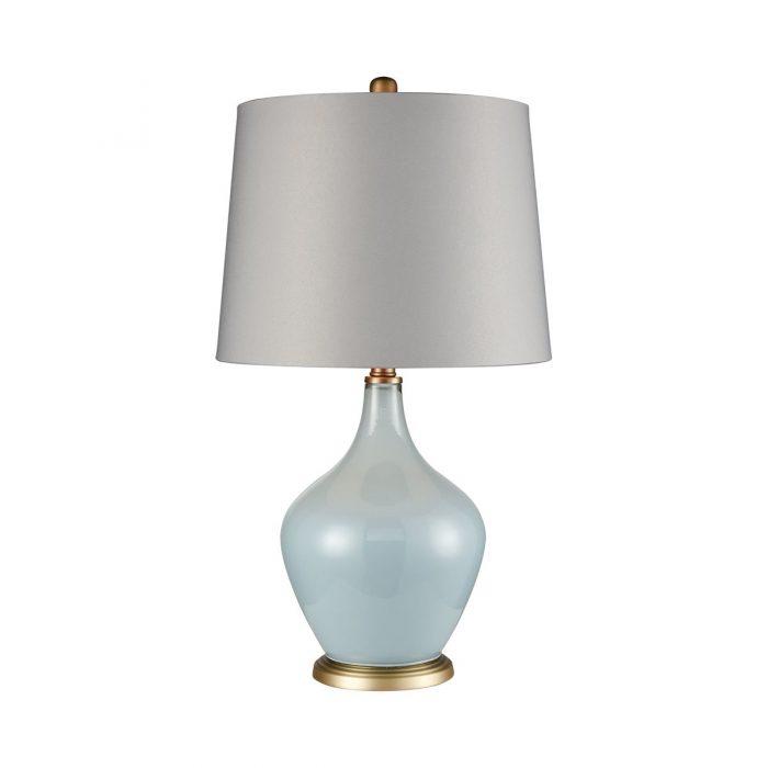 "LIGHT BLUE TABLE LAMP<div class=""cost"">WIK 663623</div>"