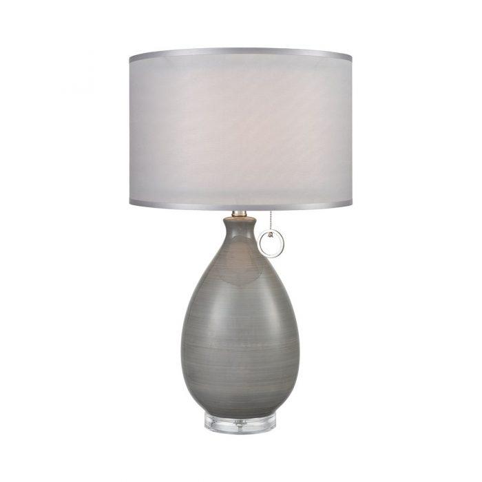 "GREY CERAMIC TABLE LAMP<div class=""cost"">WIK 663792</div>"