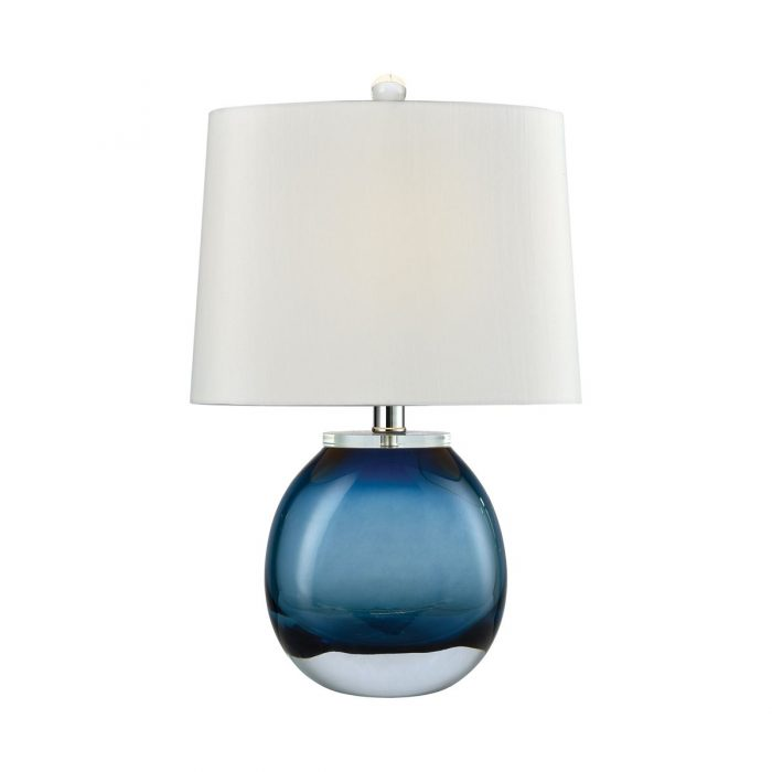 "BLUE GLASS TABLE LAMP<div class=""cost"">WIK 663854/BL</div>"