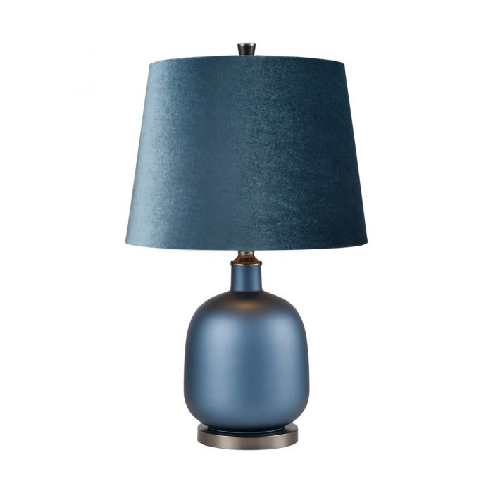 "MATTE BLUE TABLE LAMP<div class=""cost"">WIK 664011</div>"