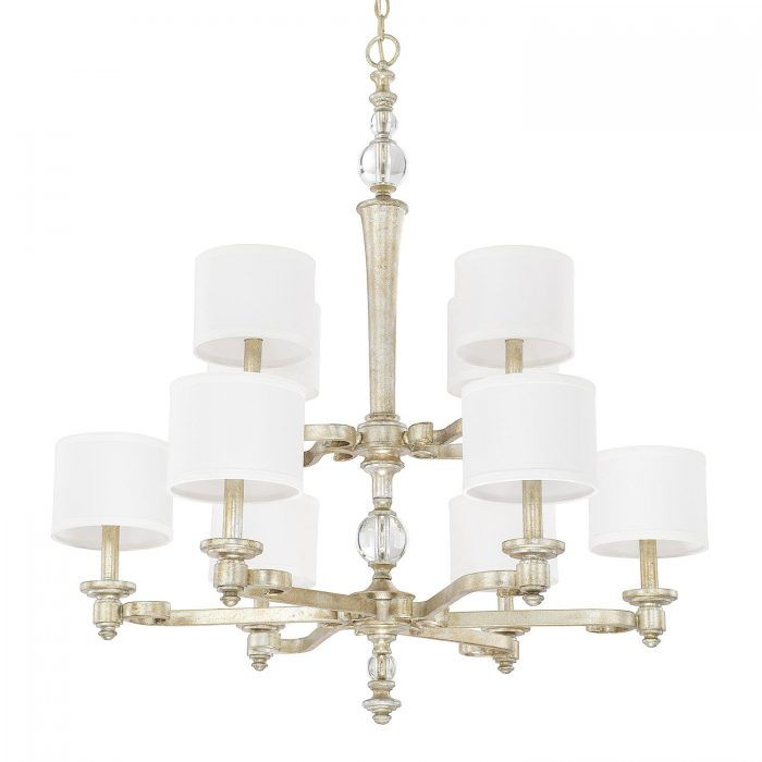 "GILDED SILVER CHANDELIER <div class=""cost"">WIC 22411701/GS/654 </div>"