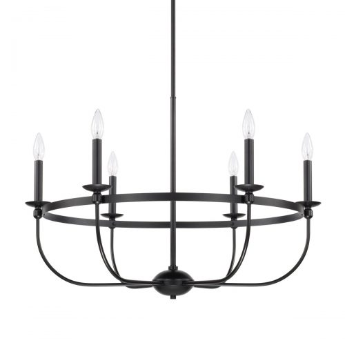 """RUSTIC 6 LIGHT CHANDELIER<div class=""""cost"""">WIC 22425161/MB</div>"""