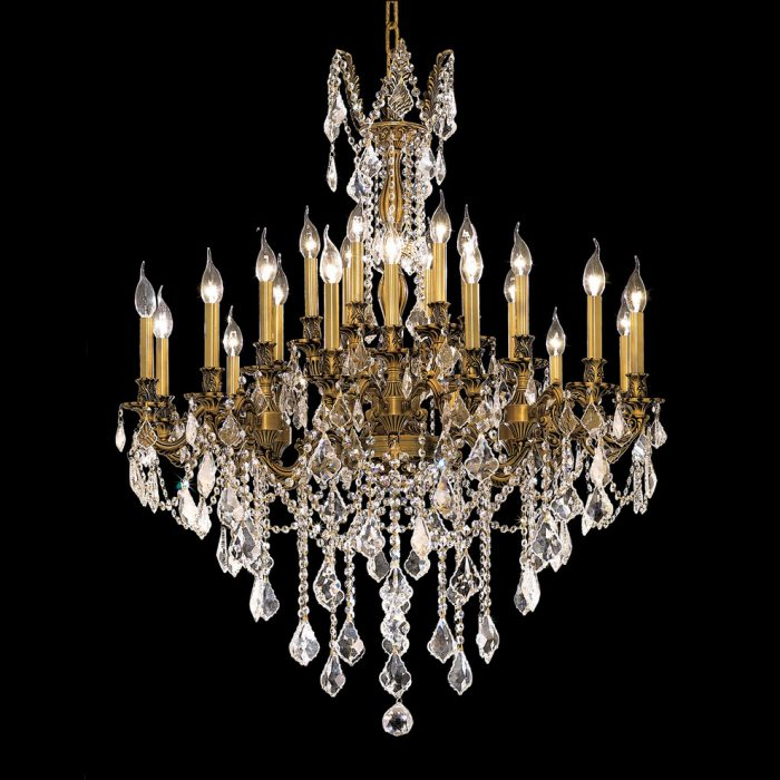 """FRENCH GOLD CHANDELIER<div class=""""cost"""">WIG 559224/D36/FG</div>"""