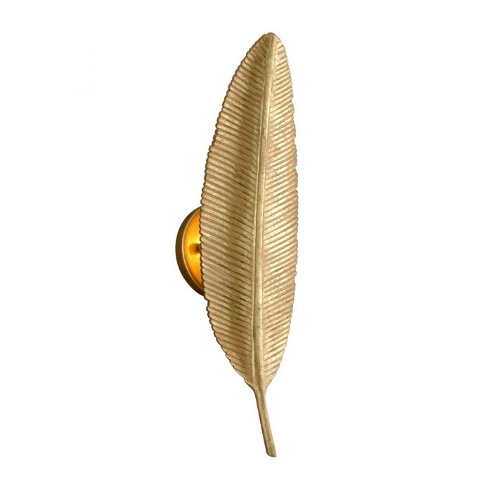 """GOLD FEATHER SCONCE<div class=""""cost"""">WIT 81305/11</div>"""