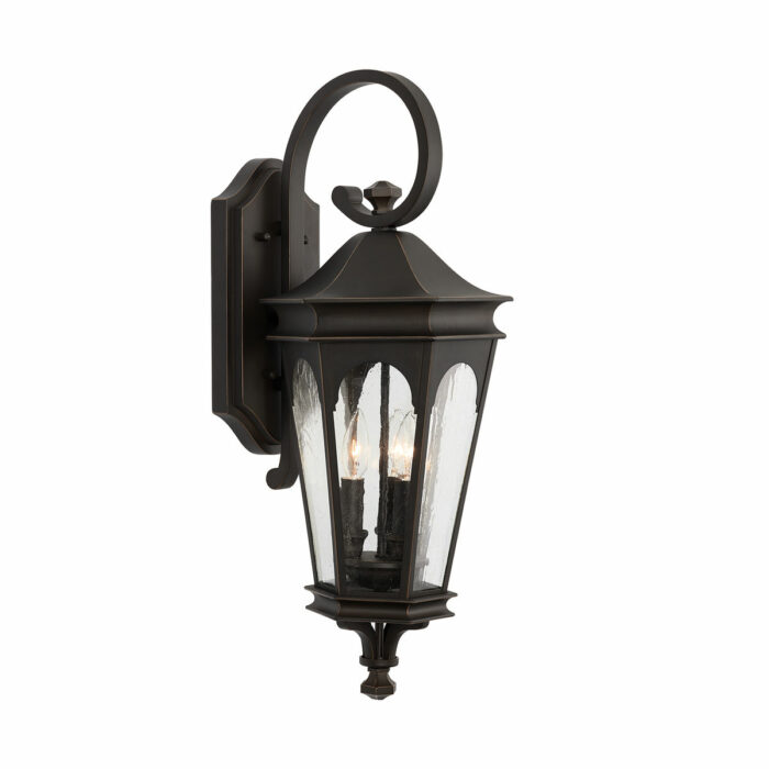 Dylan 3 light bronze exterior wall lantern