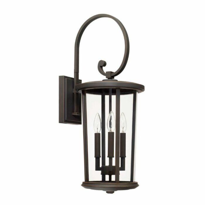 Harper 3 light exterior wall lantern in bronze