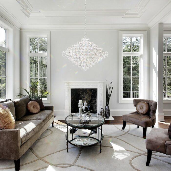 baronet-28-light-crystal-pendant-living-room