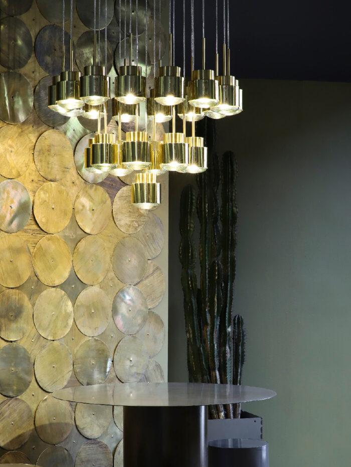 Cupallo pendant light chrome brass installation