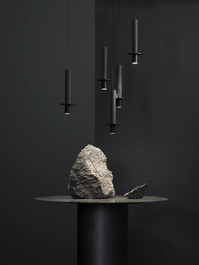 Meta pendant light black cluster2