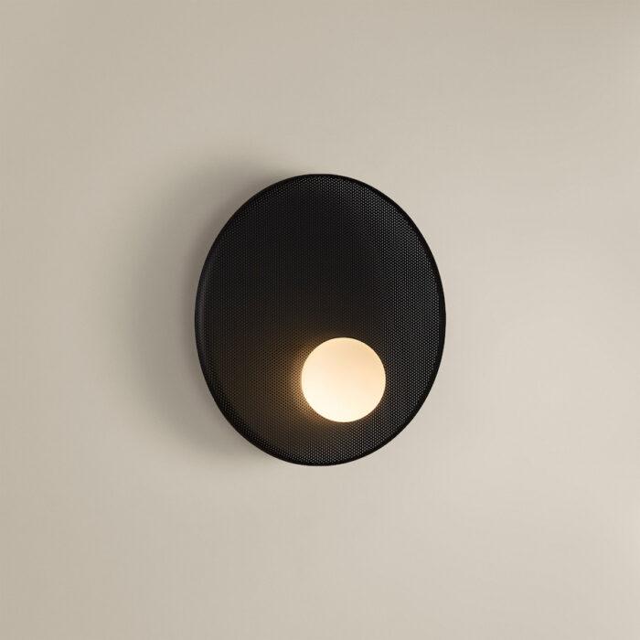 haze-mesh-wall-light-30cm-sml-black
