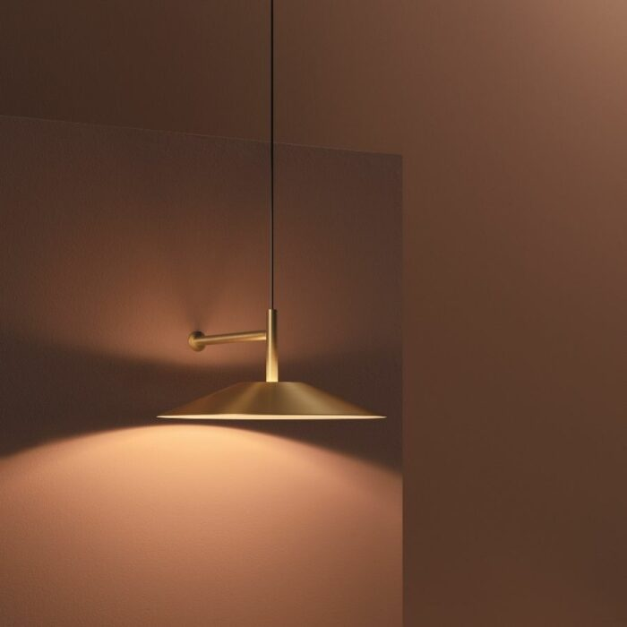 Henri wall light gold installed