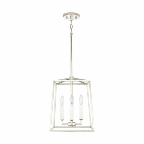Lakehouse 4 light mini lantern polished nickel