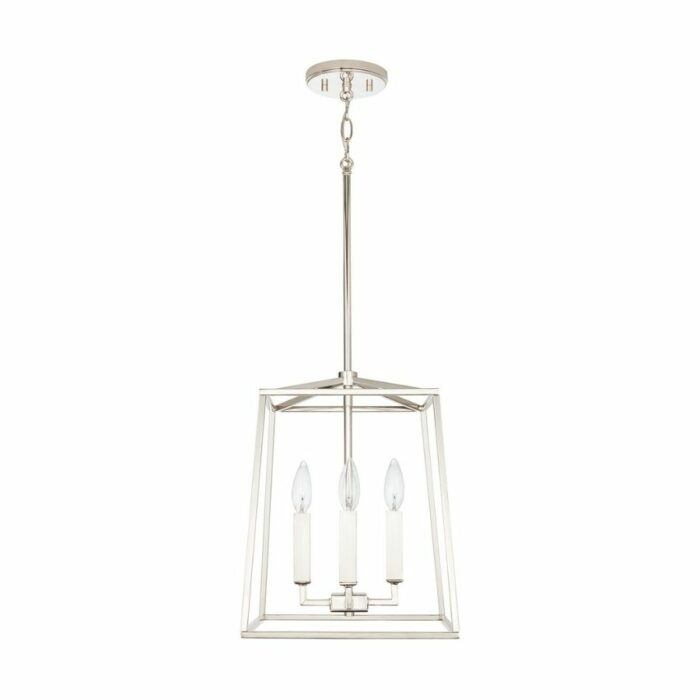 Lakehouse 4 light mini lantern polished nickel