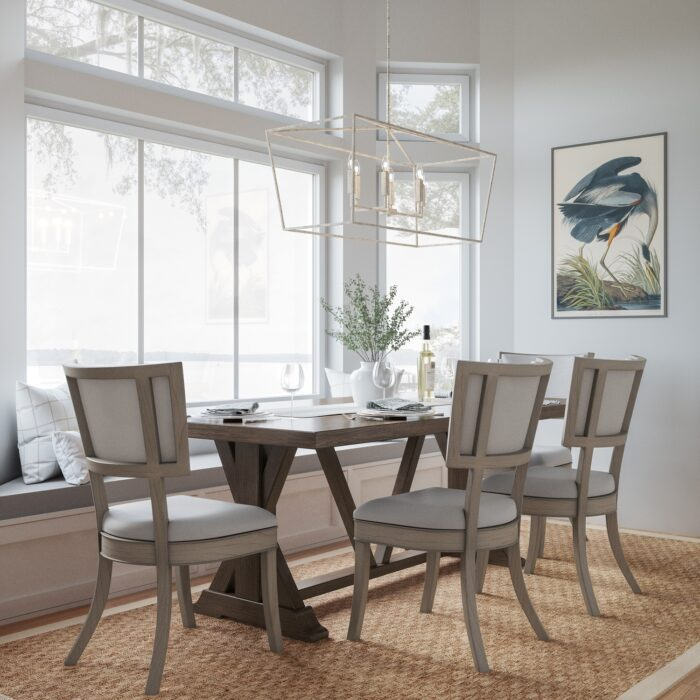 lakehouse-6-light-island-pendant-over-dining-room-table