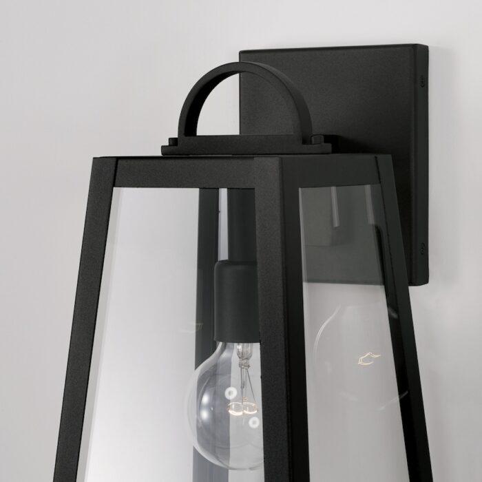 Lewis 1 light black exterior wall lantern