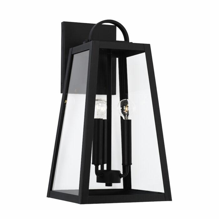 Lewis 3 light black exterior wall lantern