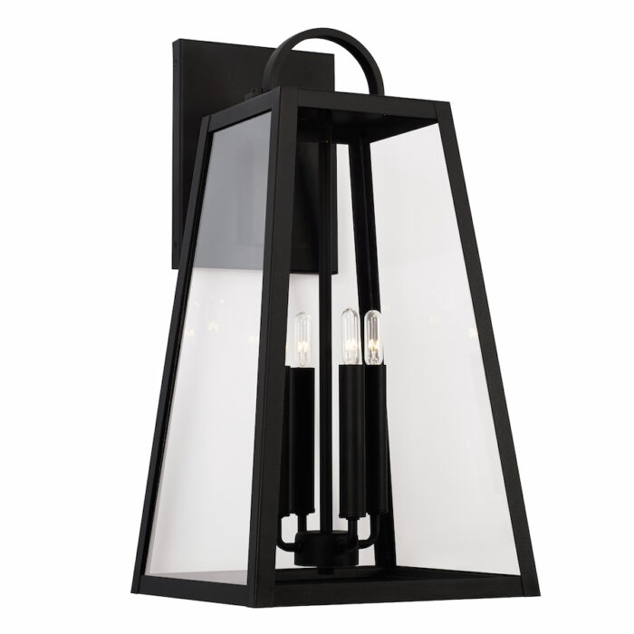 Lewis 4 light black exterior wall lantern