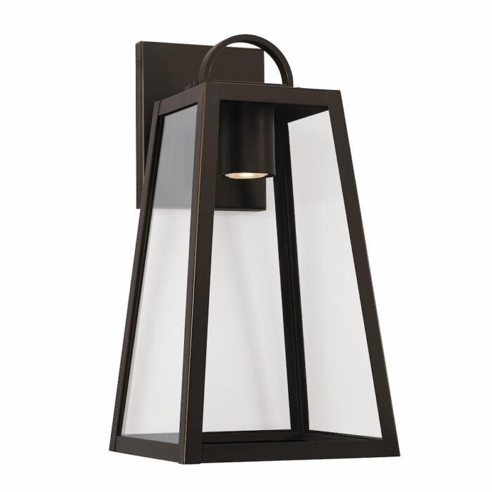 Lewis bronze exterior wall lantern with GU10 downlight