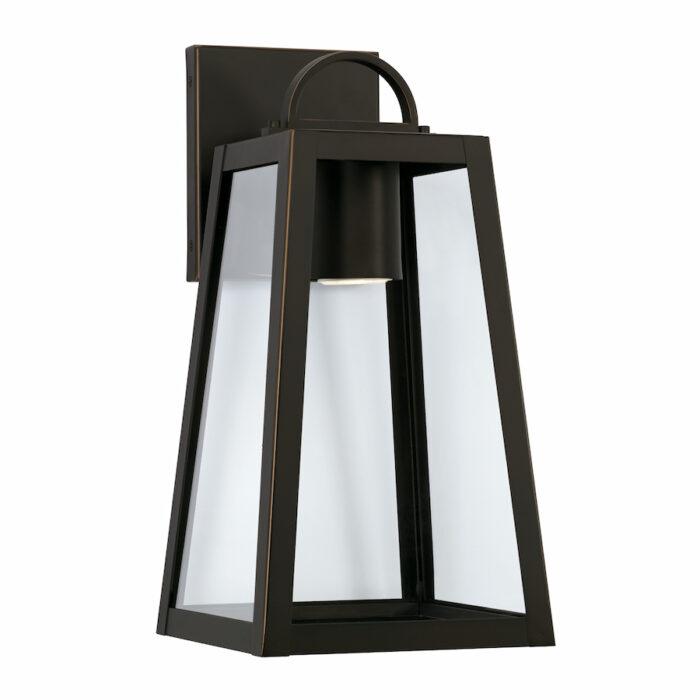 Lewis 1 light bronze exterior wall lantern with GU10 downlight