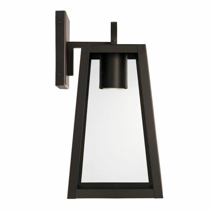 Lewis small bronze exterior wall lantern with GU10 downlight