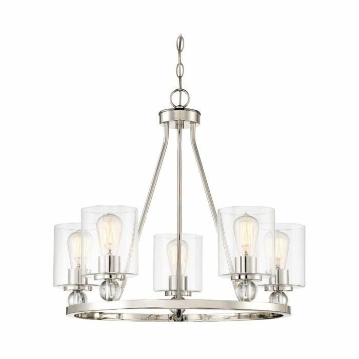 miller-5-light-chandelier-polished-nickel