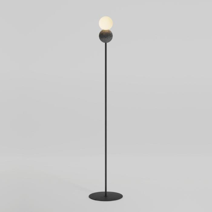 Origo floor lamp dark grey and opal