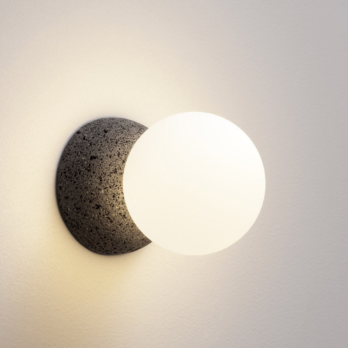 Origo wall light dark grey and opal