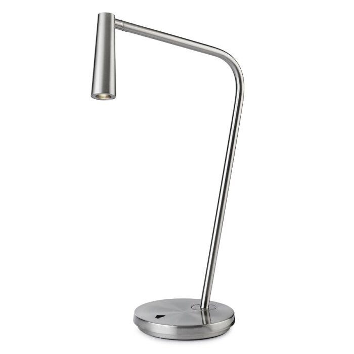 Turin LED table lamp satin nickel